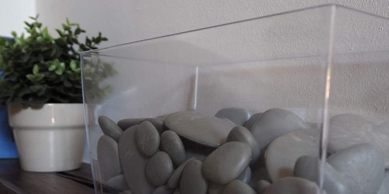 Marco Arezio - Consulente materie plastiche - Vaso con sassi riciclati