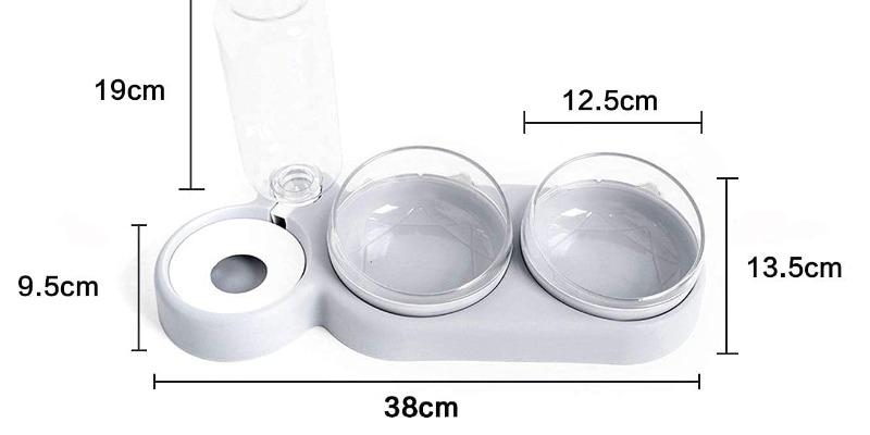 Marco Arezio - Consulente materie plastiche -  Ciotola per cibo e acqua del gatto dimensioni