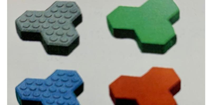 Marco Arezio - Consulente materie plastiche - Masselli autobloccanti in PVC riciclato colorabili