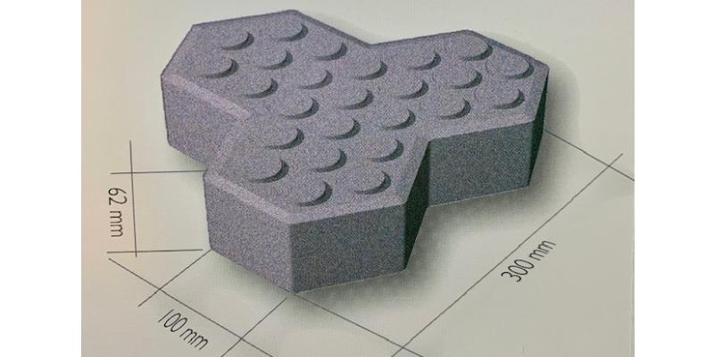 Marco Arezio - Consulente materie plastiche - Dimensioni del massello autobloccante in PVC riciclato