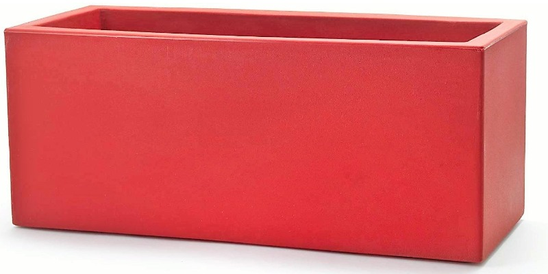 Marco Arezio - Consulente materie plastiche -  Vaso in Resina Riciclabile rosso